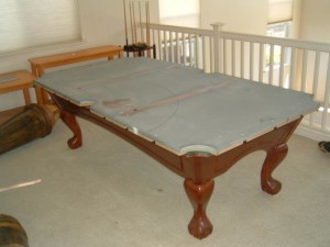 Proper pool table moving process in Oneonta New York